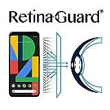 RetinaGuard Pixel 4 XL (6.3インチ) アンチブルーライトスクリーンプロテクター、SGSとIntertekテスト済み、過度の有害なブルーライトをブロック、目の疲れや目の疲れを軽減。