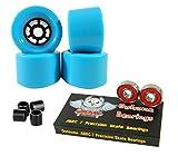83mm Wheels Longboard Flywheels + Owlsome ABEC 7 Precision Bearings (Baby Blue)