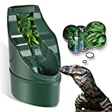 Neptonion Reptile Chameleon Cantina Drinking Fountain Water dripper Comes with Feeding Tongs and Frosted Tweezer for Amphibians Insects Lizard Turtle Snake Spider Frog Gecko
