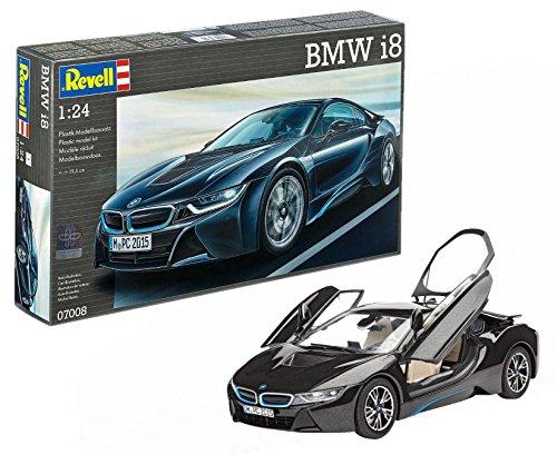 Revell- BMW i8 Maqueta Coche, Color Negro (07008