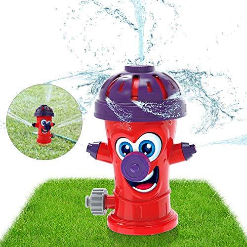 Sunshine smile Sprinkler Spielzeug für Kinder,Hydrant Sprinkler,Wasserspielzeug Sprinkler,Wassersprinkler Garten Kinder,Sprinkler für Outdoor Garten,Wasserspielzeug für Sommer (rot)