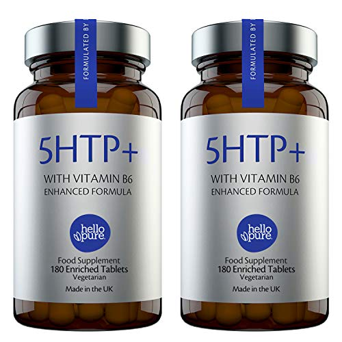 5HTP +Plus – Ultra High Strength 5 HTP – 400mg Vegan Griffonia Seed Extract Equivalent + 100% NRV Dose of Vitamin B6 – High Absorption 5-HTP Capsules – Alternative Stress & Anxiety Relief (Pack of 2)