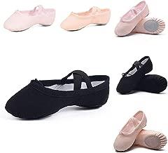 أحذية الباليه من Ruqiji للبنات/الصغار/الأطفال/النساء، أحذية الباليه القماشية/خف الباليه/أحذية الرقص، مقاس أفضل