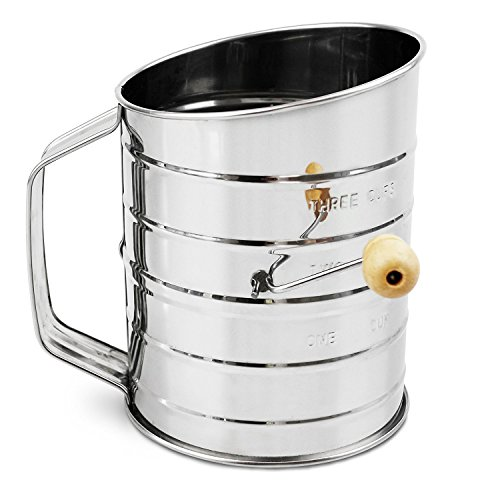 Nellam Traditional Flour Sifter Stainless Steel (3 Cup)