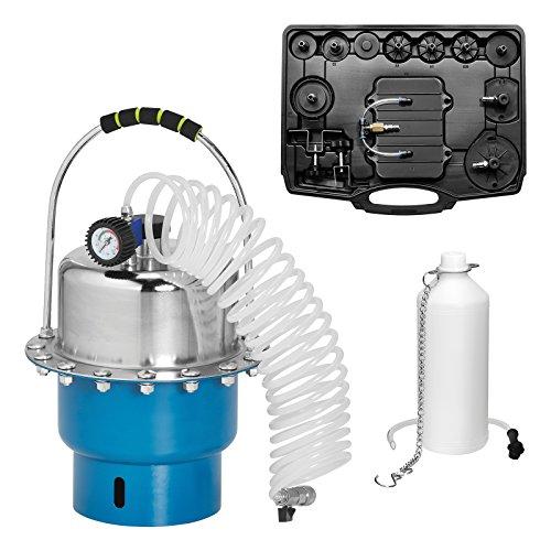 KRAFTPLUS K.211-7007 Purgeur de frein pneumatique à air comprimé avec collecteur de liquide de frein et kit de purge 15 pcs en coffret