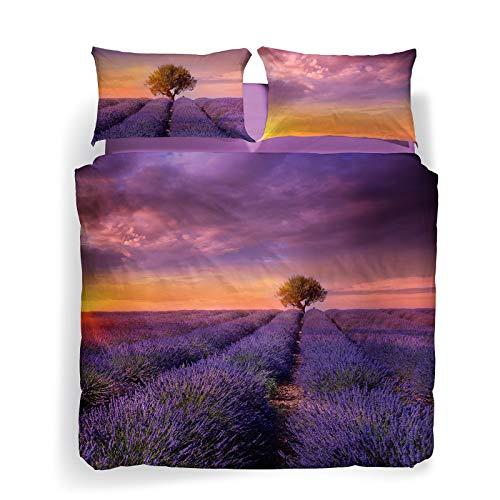 copripiumino matrimoniale caleffi Caleffi Lavender sunset Completo Copripiumino