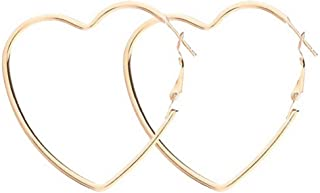 Yukhins Stainless Steel Simple Geometric Big Hoop Earring For Women Girls
