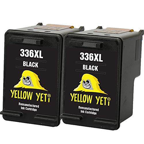 Yellow Yeti Remanufacturados 336 Cartuchos de Tinta Negro para HP Photosmart 2570 2575 2710 8150 C3100 C3180 C4180 D5160 DeskJet 5440 5442 6310 Officejet 6315 PSC 1510 [3 años de garantía]