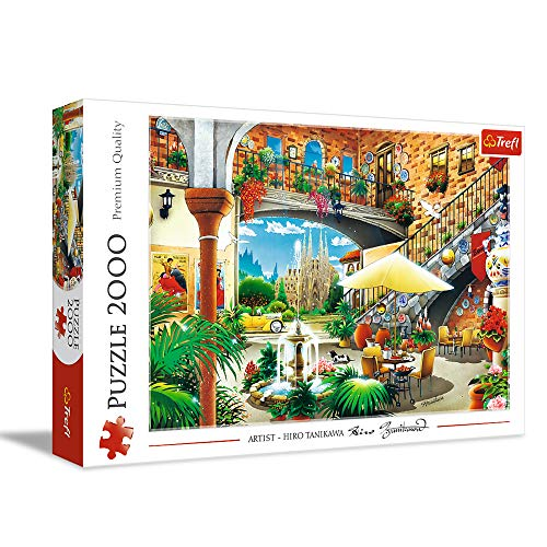 Trefl- Ansicht Von Barcelona, Spanien 2000 Teile, Premium Quality, für Erwachsene und Kinder AB 12 Jahren Puzzels, Color Coloreado (27105)