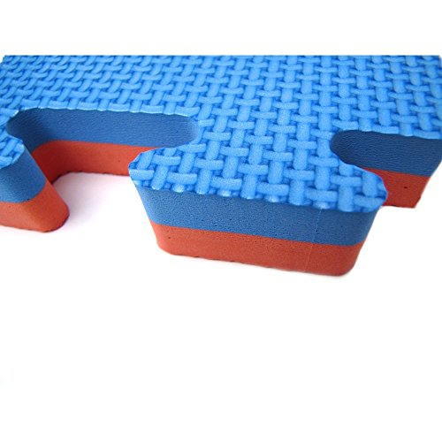 YariNoHanzo Tatami Bicolore   10 m2   Tatami ad Incastro   Puzzle Spessore: 2 cm   Karate, Judo, Taekwondo, Kick Boxing, MMA, Brazilian Jiu Jitsu