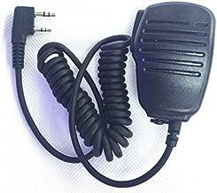 Black 2 Pin Mini PTT Speaker MIC For Kenwood Walkie Talkie Baofeng QUANSHENG PUXING WOUXUN TYT HYT UV5R 888S Radio