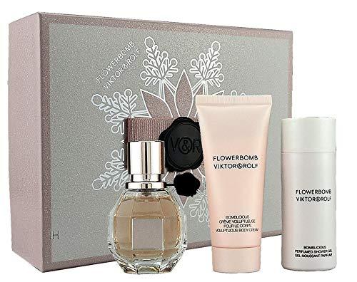 Viktor & Rolf Flowerbomb Set 100ml Eau de Parfum + 50ml Duschgel + 40ml Body Cream