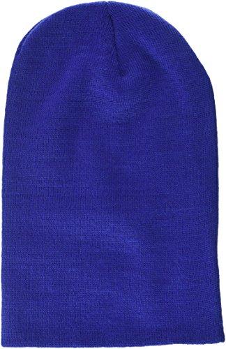 MSTRDS Bonnet Unisexe Basic Flap Version Longue. Taille Unique Bleu Roi