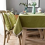 XQSSB Mantele Resistente Al Agua Lavable Colores Resistente Al Desgaste Grueso para Cocinas Exteriores o Interiores Mantel Mesa Rectangular Verde 140 × 140cm