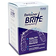 Retainer Brite Tablets for Cleaner Retainers and Dental Appliances - 120 Count