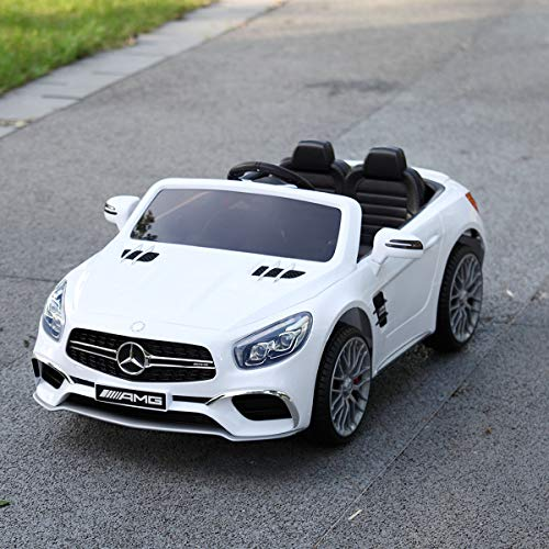 JAXPETY Mercedes Benz 12V Electric Kids Ride On Car Licensed MP3 RC Remote Control (White)