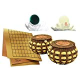 Go Game Set with Reversible 19x19/13x13 Board-The Authentic Yunzi Stones | Surrounding Strategy Board Game for Soldier Commander - Professional Go Game Club |The Best Education for Kids Adults