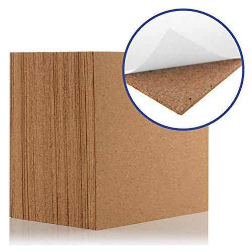 Korkfliesen selbstklebend (0,81 qm Abdeckung) – Natur 300 x 300 mm, Fliesen, ideal für Böden, Wände, Heimwerker, Pinnwände und Bastelprojekte - wirkt als Schallschutz und Isolierung (9 Stück)