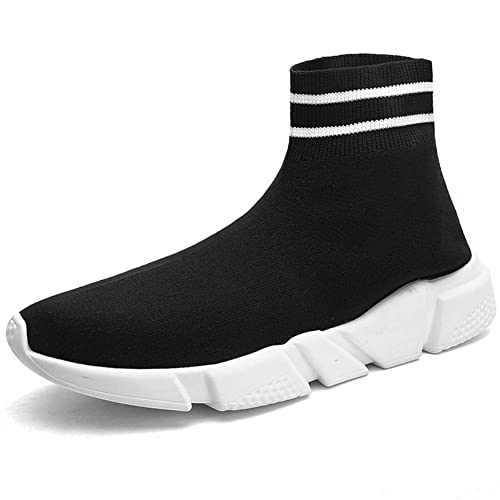 MEAYOU Mens Womens Fashion Sneakers Ultra Lightweight Breathable, Casual Athletic Running Shoes Knitted Socks Shoes
