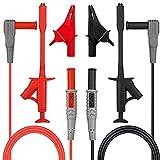Tacklife METL03-Cable de multimetro 6 piezas, kit de puntas de prueba con Retractable crocodile clip y pinzas de cocodrilo, sondas de prueba, con Doble protección de seguridad