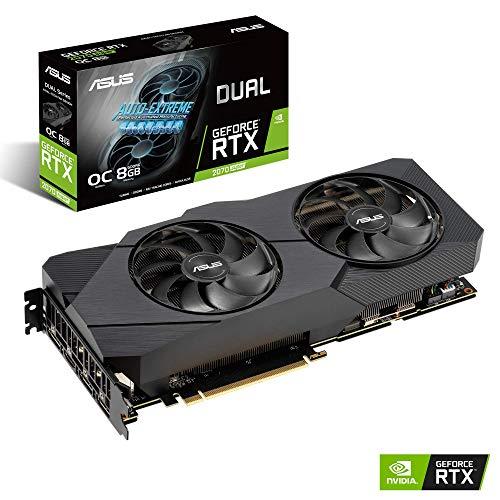 ASUS GeForce RTX 2070S DUAL EVO OC 8G Super Gaming Grafikkarte (PCIe 3.0, 8GB DDR6 Speicher, HDMI, Displayport, USB Type-C)