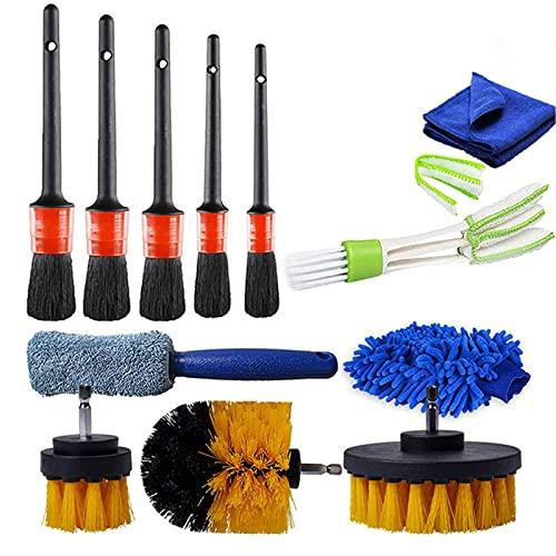 ANBOO Car Detailing Brushes Set, 12 Pcs Car Detail Cleaning Brushes Kit...