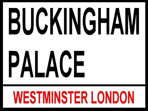 Buckingham Palace: Metall London Street Schild: Wandschild: Man Schuppen: Home Pub: Geschenke