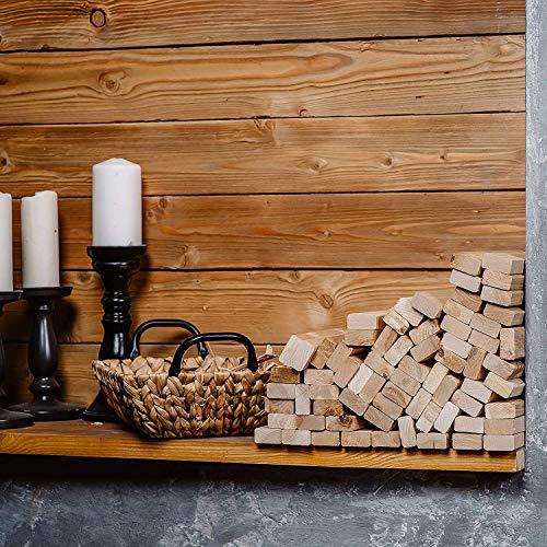 Anzündholz Premium - Anfeuerholz mit Kamin Anzünder - Besonderes Sauberes und Trockenes Anmachholz aus FSC-zertifiziertes unbehandeltes Birkenholz - Feuerholz