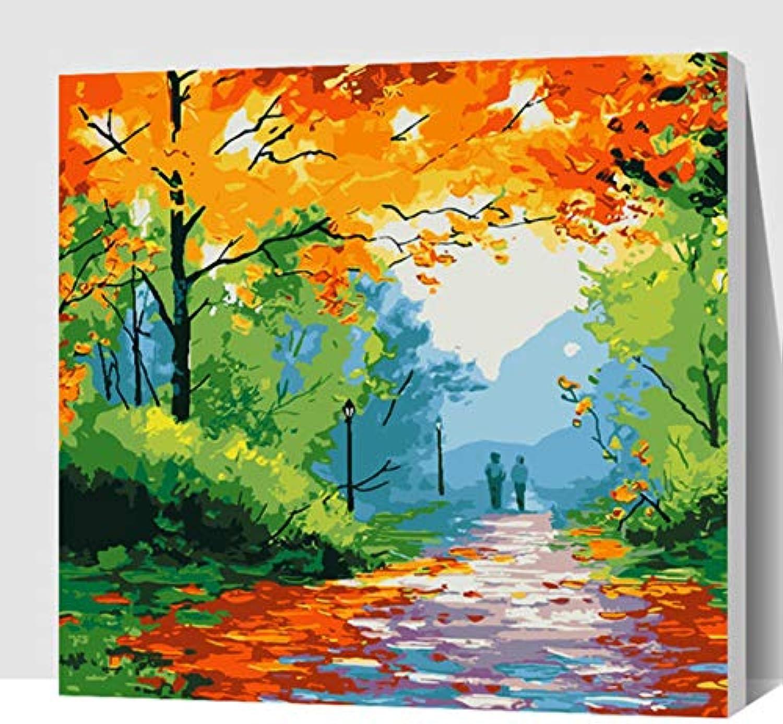 Splendid Sky Beach Woods Abstraktes Ölgemälde Landschaft Zahlen Overlay Linien Malen Painted Digital Hand Dekoration 40x50cm Mit Rahmen B07K4Y87SD | Günstigen Preis
