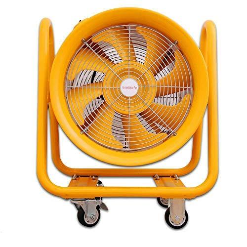 Tragbarer Industrie Ventilator Axiallüfter (EX) - Gelb, 40,5cm