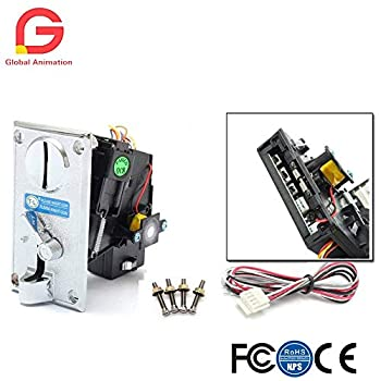 Alloy Front panel CPU Multi Coin Acceptor for Vending Machine Coin Laundromat Massage Chair Arcade Jamma Video Game Etc..