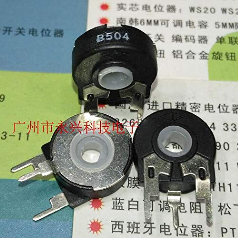 PT15 B500K B504 Variable Resistance greenical Elliptical Hole Adjustable Potentiometer Switch 15MM3P