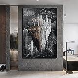IFUNEW Cuadro de Lienzo Póster de Lienzo de planificación inmobiliaria, impresión artística, imágenes en inglés, Carteles e Impresiones, decoración del hogar 60x90cm