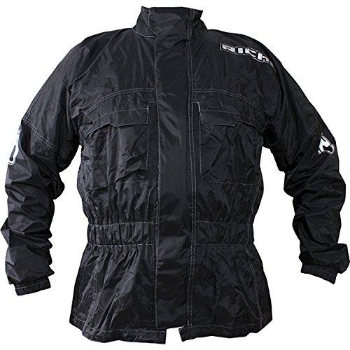 Richa Rain Warrior - Motorrad-Regenjacke - Textil - Überjacke - Schwarz - 4XL