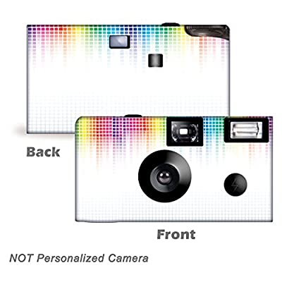 5 Electric Rainbow Disposable Cameras, Anniversary, Party, Single use, Flash WM-50411-C from CustomCameraCollection