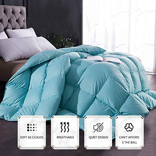 BDHBB All-Season Luxurious Oversized King Goose Down Comforter Duvet Insert, 688 Thread Count Cotton Cover 600 Fill Power with 8 Corner Tabs,5kg