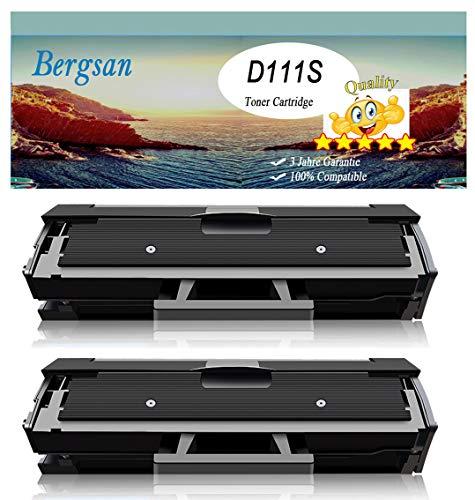 Bergsan toner met de nieuwste chip compatibel met Samsung MLT-D111S voor Samsung Xpress M2020 M2020W M2022 M2022W M2070 M2070W M2070FW M2026 M2026W M2070F M2021W M2071 M2071W M2071FH 2 x zwart