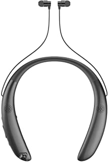 HelloDigi Noise Cancelling Stereo Bluetooth Neckband Headset,Wireless Bluetooth Headphones with Mic,Sports Sweatproof Bluetooth Headphones with Micro Camera and Dual External Amplified Speakers