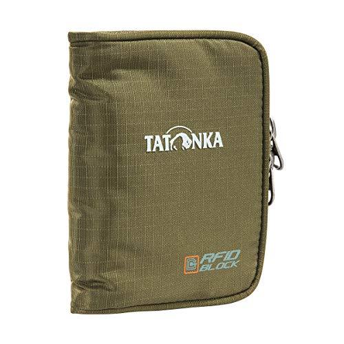 Tatonka Zip Money Box RFID B - Geldbeutel mit RFID-Blocker - TÜV-geprüft - Bietet Platz für 4 Kreditkarten, mit Münzgeldfach und extra Reißverschlussfach im Inneren - Schützt vor Datenklau