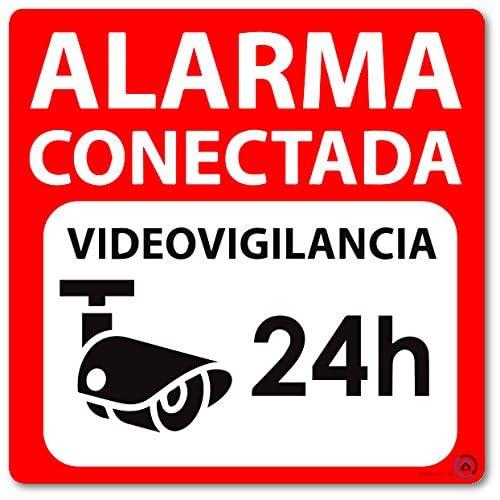 Vinilo autoadhesivo disuasorio (pegatina) alarma 15x15 ...