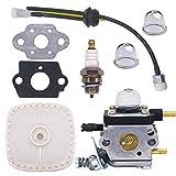 NIMTEK C1U-K54 C1U-K54A Carburetor Repower Kit for 2-Cycle Mantis 7222 7222E 7222M 7225 7230 7234 7240 7920 7924 Tiller/Cultivator Carb