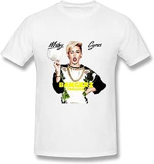 NANCYAA Miley Cyrus Bangerz by Mycierobert Men's FunnyBasic Short Sleeve T-Shirt White