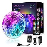 Luces LED 6M RGB, COOLAPA Tiras LED con Control Remoto y Caja de Control, 20 Colores y 8 Modos de Escena para la Habitación,...