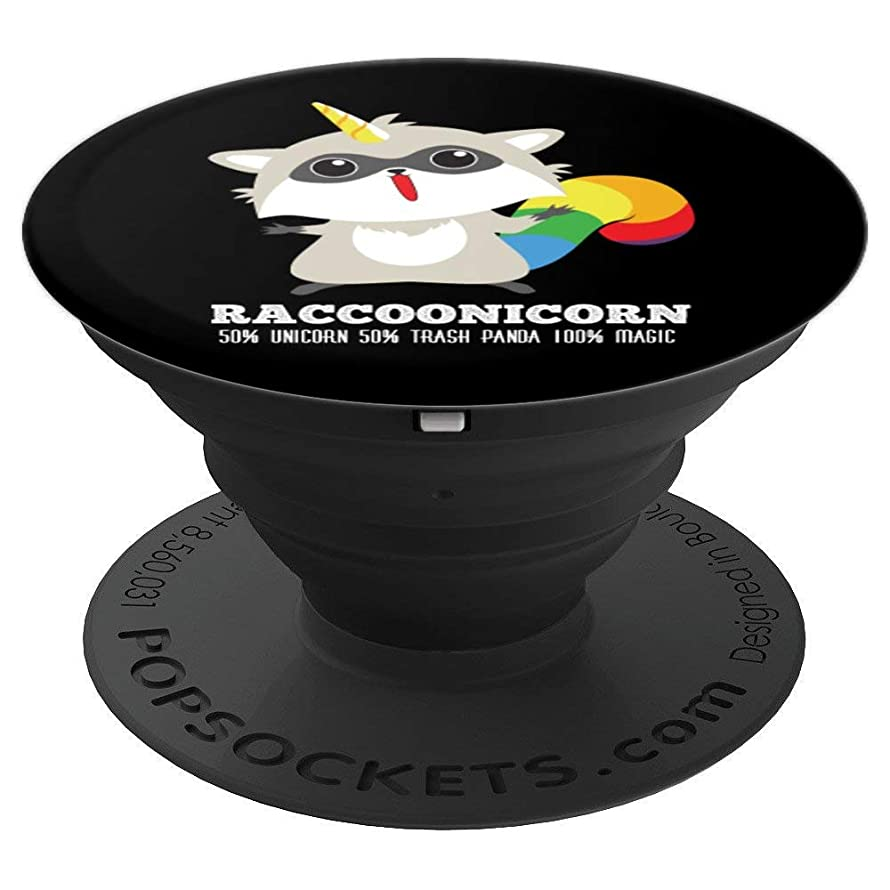 Racoonicorn Design Funny Unicorn Raccoon Gift - PopSockets Grip and Stand for Phones and Tablets
