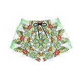 BONIPE - Bañador para mujer, diseño de mandala de secado rápido, con cordón y bolsillos, talla S Multicolor multicolor S