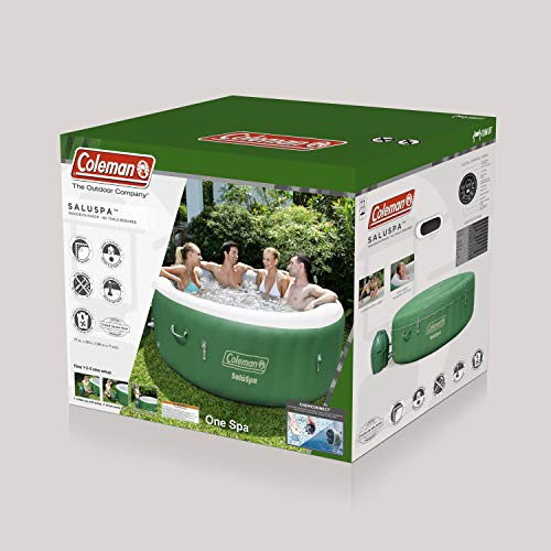 Coleman SaluSpa Inflatable Hot Tub Spa, Green