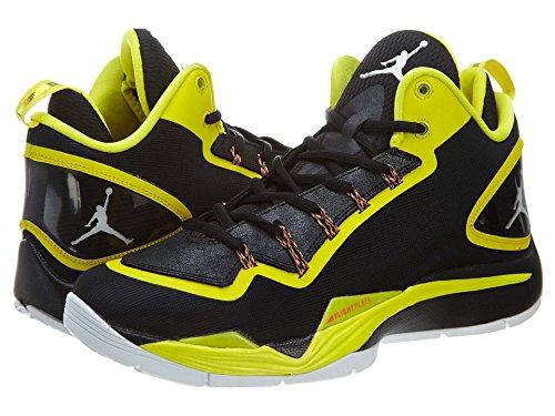 Nike Air Jordan Super.Fly 2 PO Basketball Schuhe black-white-vibrant yellow-infrared - 45