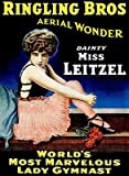 Ringling Brothers - Dainty Miss Leitzel - Lady Gymnast - 1920 - Circus Show Poster
