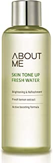 ABOUT ME Skin Tone Up Fresh Water 6.7 fl. oz. (200ml) - Contained Sparkiling Water and Lemon Extract, AHA Peeling and Moisturizing Boosting Facial Toner, Skin Clear and Brightening Care