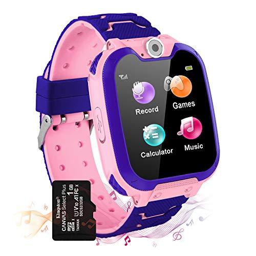 Montre Intelligente pour Enfants 7 Jeux - Musique MP3 Montre Enfants Fille Garçon, Appels Téléphoniques Montre à écran Tactile pour Enfants avec Caméra, Alarme, Smart Watches 3-12 Ys…